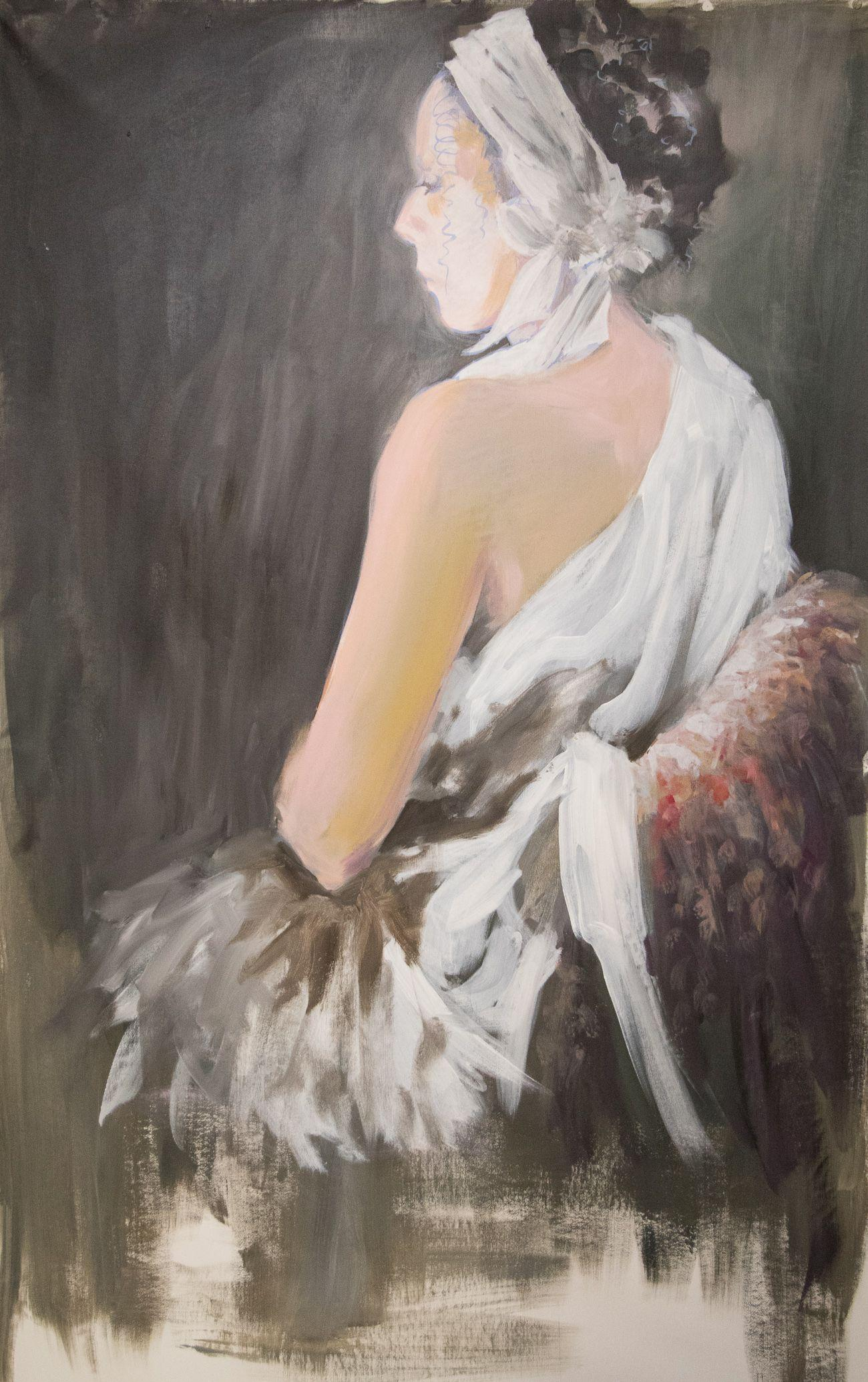 Constance - portrait of a woman, Painting, Acrylic on Canvas