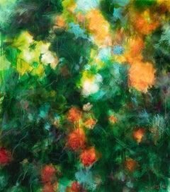 Orange roses, Painting, Acrylic on Canvas