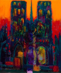 The cathedral n┬░3, Painting, Acrylic on Canvas