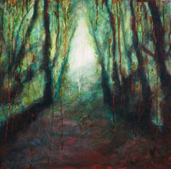 The emerald forest, Painting, Oil on Canvas