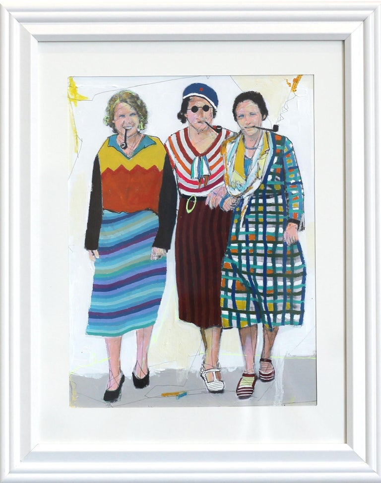 Three Women - Mixed Media Art by Fabio Coruzzi