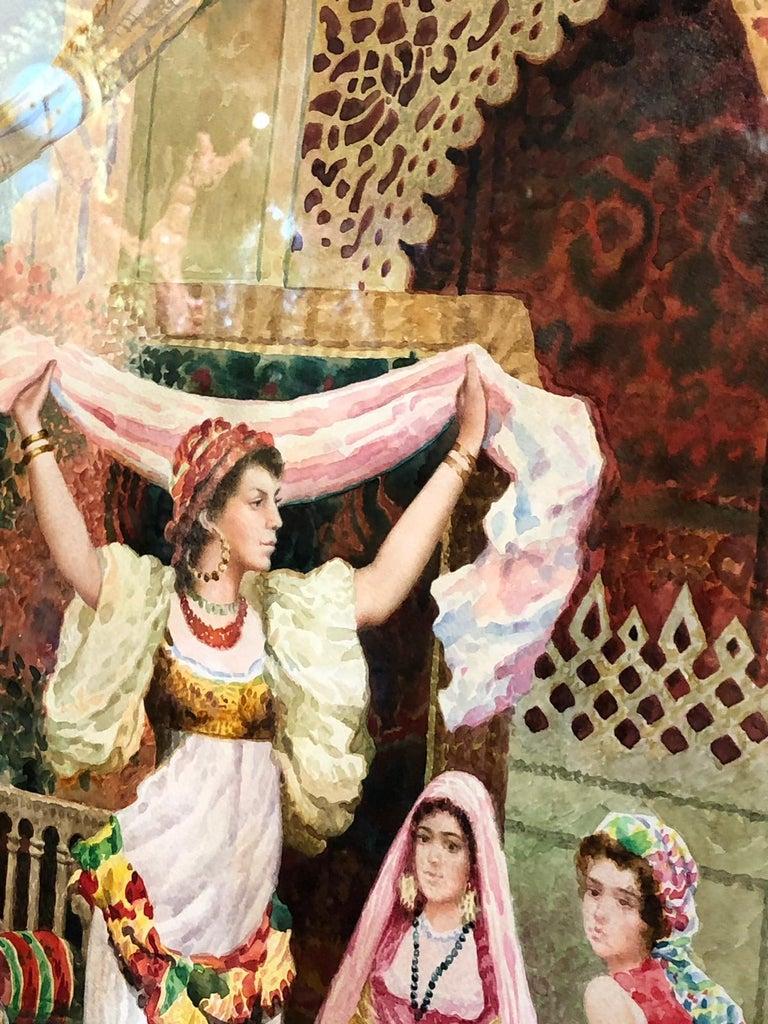 Fabio Fabbi 'Italian, 1861-1946' Pair of Orientalist Watercolors