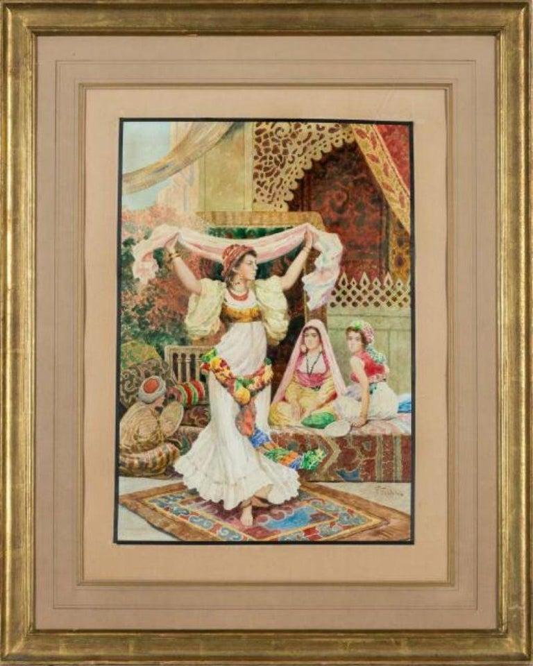 Fabio Fabbi (Italian, 1861-1946)   An exceptional pair of Orientalist Watercolors