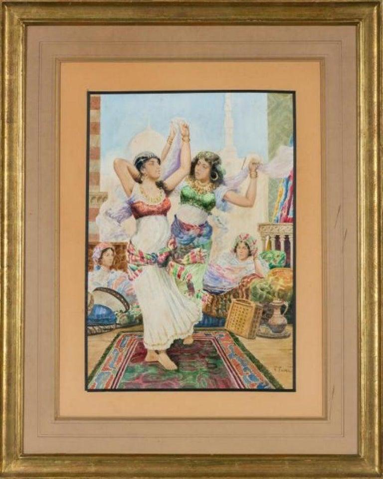 Islamic Fabio Fabbi 'Italian, 1861-1946' Pair of Orientalist Watercolors