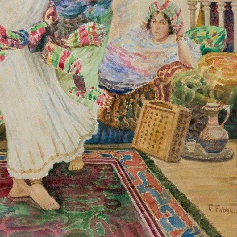 19th Century Fabio Fabbi 'Italian, 1861-1946' Pair of Orientalist Watercolors