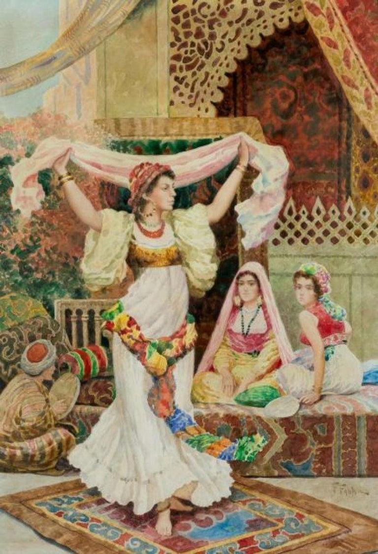 Paint Fabio Fabbi 'Italian, 1861-1946' Pair of Orientalist Watercolors