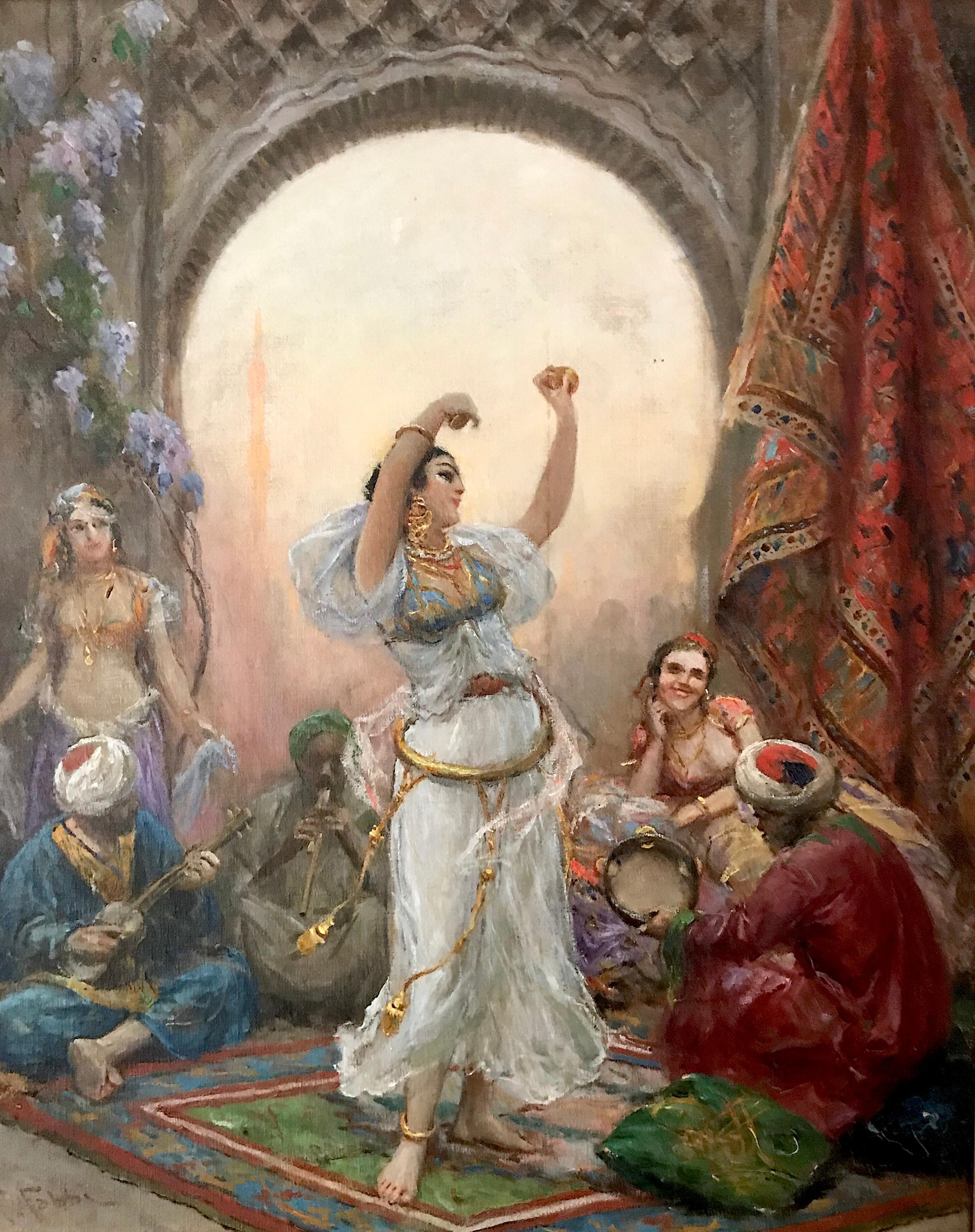 Antique Original Oil Painting by Fabio Fabbi