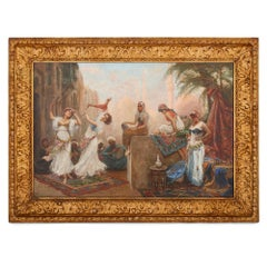 Large Italian Orientalist oil painting by Fabbi