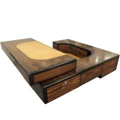 Fabio Lenci Executive Wood Desk for Bernini, 1970s