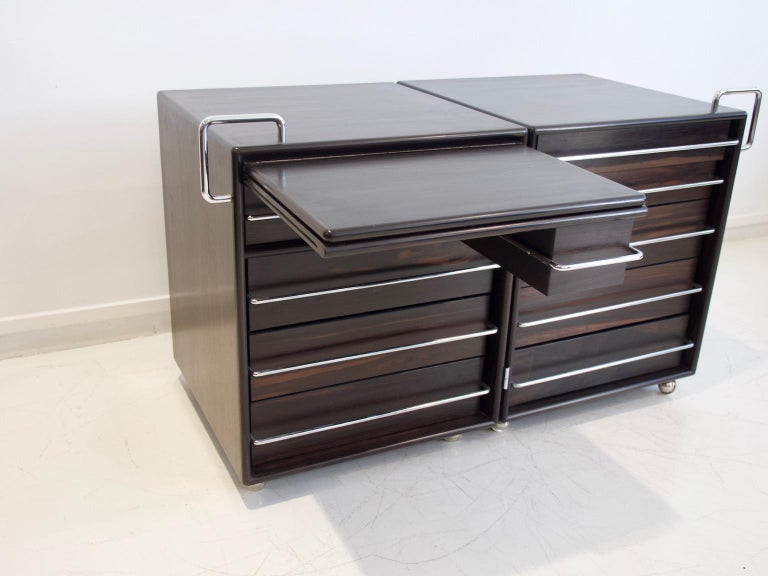 20th Century Fabio Lenci for Bernini Chest of Drawers