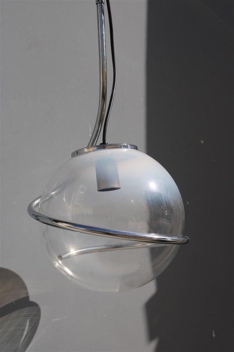 Fabio Lenci Italian chandelier Pop Art ball Murano glass, 1970s.