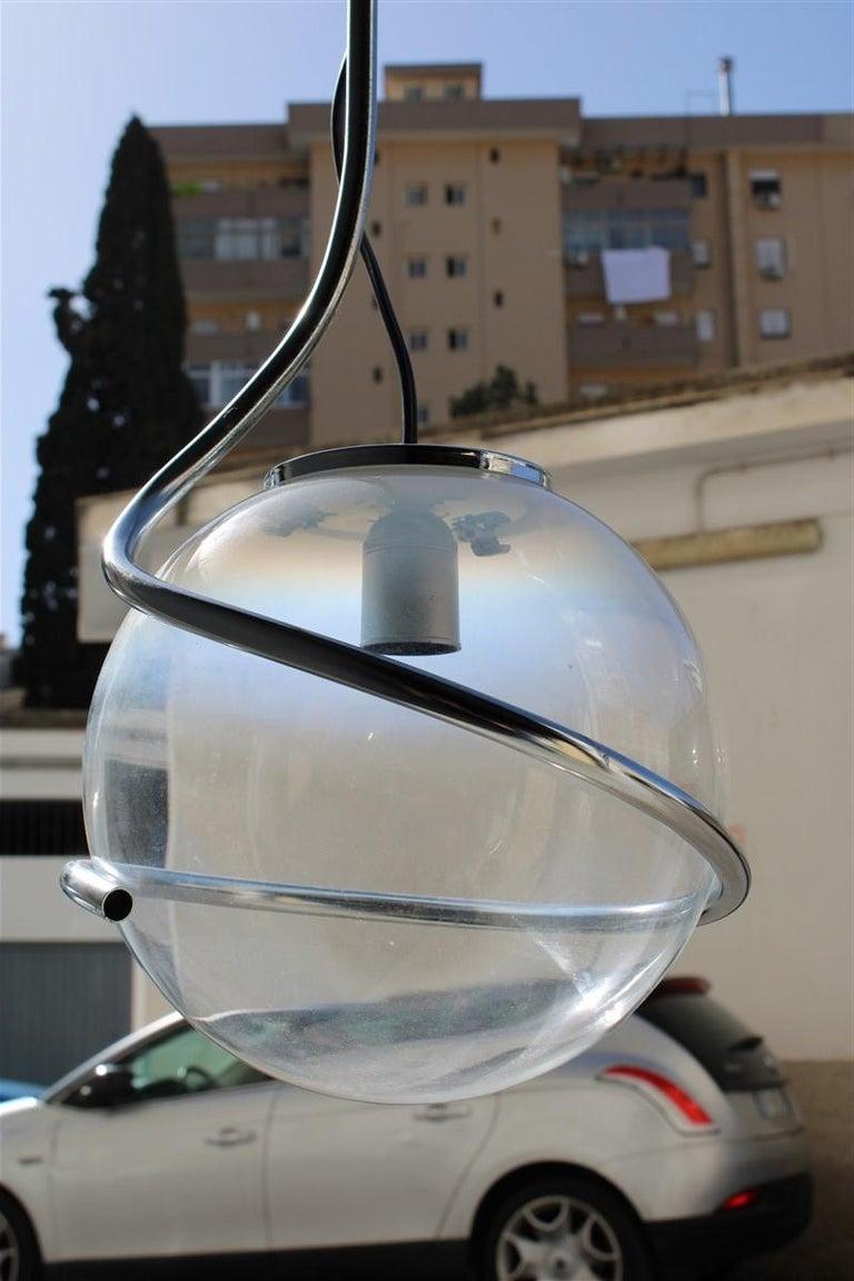 Fabio Lenci Italian Chandelier Pop Art Ball Murano Glass, 1970s For Sale 1