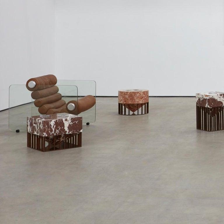 Glass Fabio Lenci Lounge Chair For Sale