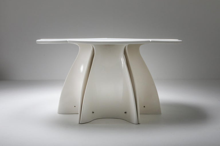Space Age Fabio Lenci Postmodern 'Petal' Dining Table, 1960s For Sale