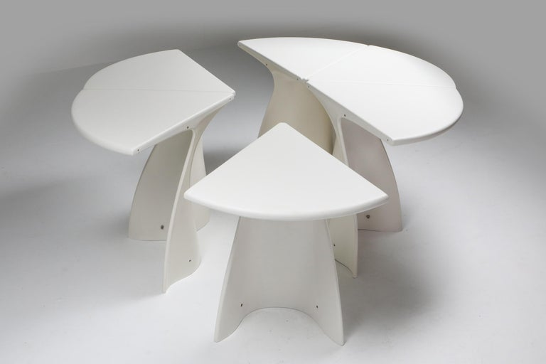 Plastic Fabio Lenci Postmodern 'Petal' Dining Table, 1960s For Sale