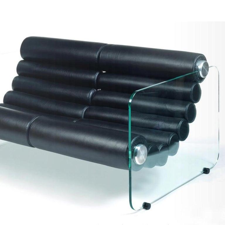 Hand-Crafted Fabio Lenci Sofa 2-Seat For Sale