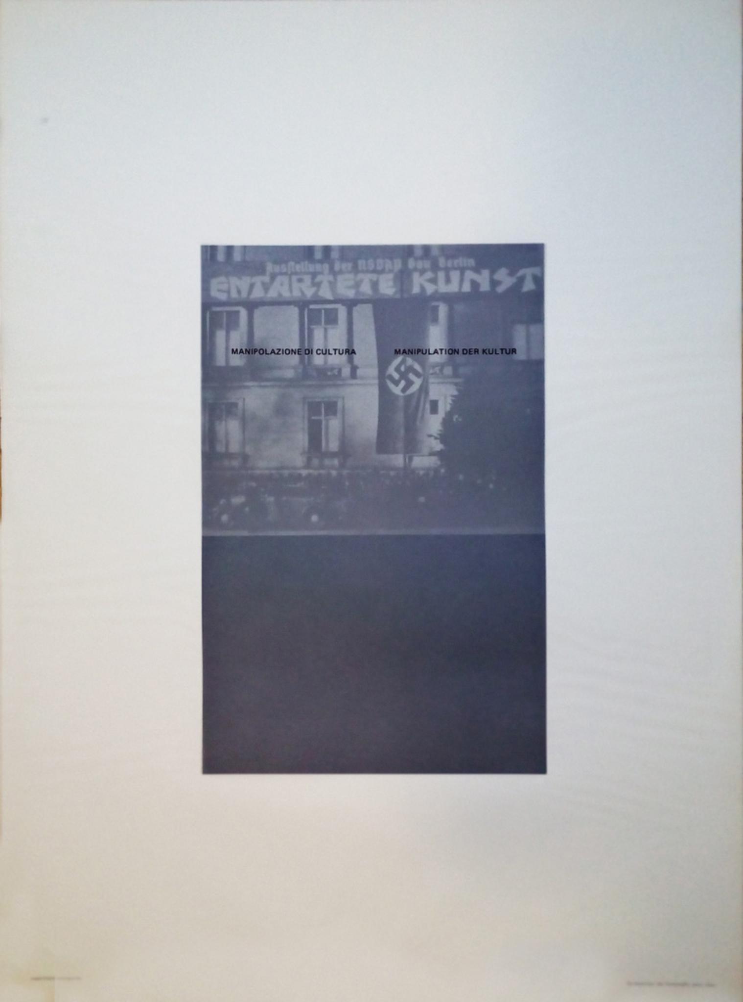 Sopprimono Avanguardie - Original Photolithograph by Fabio Mauri - 1976