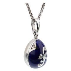 Fabrege Limited Edition Enamel Diamond Pendant Necklace