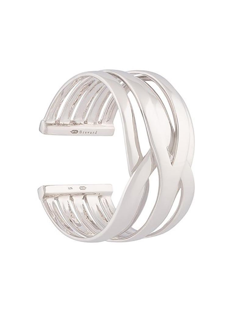 Artist Fabri Silver Cuff For Sale