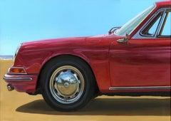 A SUMMER IN SANTA MONICA Porsche 911 S (AVANT)- original oil car painting