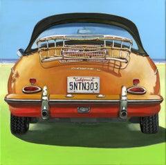 Balade to San Diego - original car oil painting contemporary modern 21st c