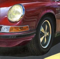 California Sunlight - original vintage car oil painting contemporary modern