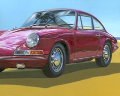 Miami Beach -  original US car colourful oil painting modern contemporary