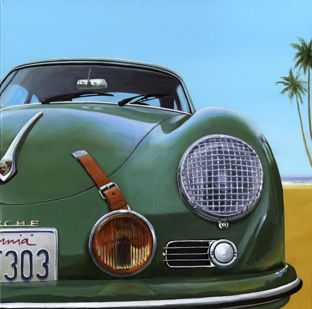 Palm Beach Retreat - original America car oil painting contemporary modern