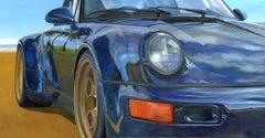 Santa Barbara -  original Americn car colourful oil painting modern realism