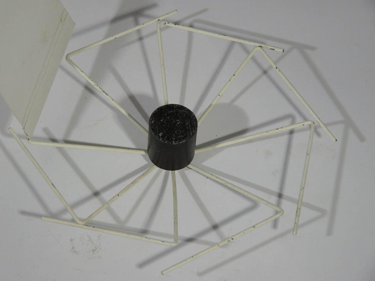 Fabric and Metal Ceiling/Floor Lamp Spyder by Paolo Tilche for Arform, 1962 For Sale 3