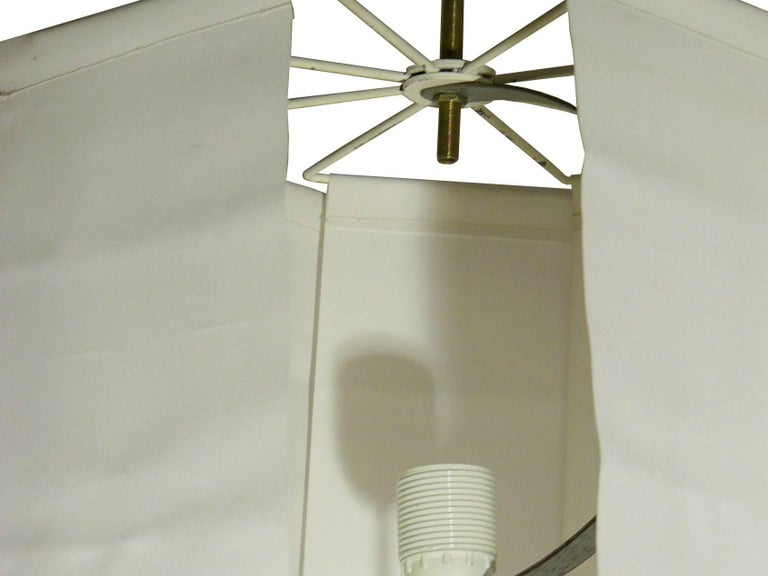 Mid-20th Century Fabric and Metal Ceiling/Floor Lamp Spyder by Paolo Tilche for Arform, 1962 For Sale