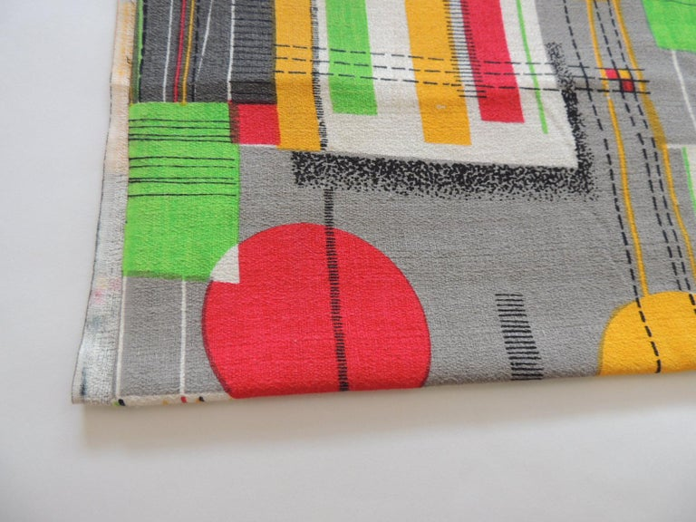 Fabric by the yard, printed cotton midcentury