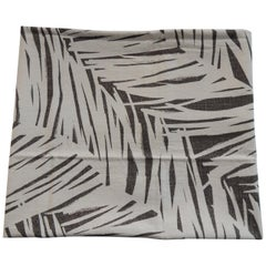 Fabric by the Yard: Printed Linen Palms in Brown and Natural
