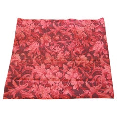Fabric by The Yard Vintage Red Floral Linen Textile Bennison Fabrics Style