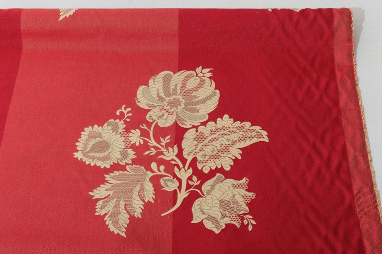 Fabric Cut Mulberry Lace Damask For Sale 3
