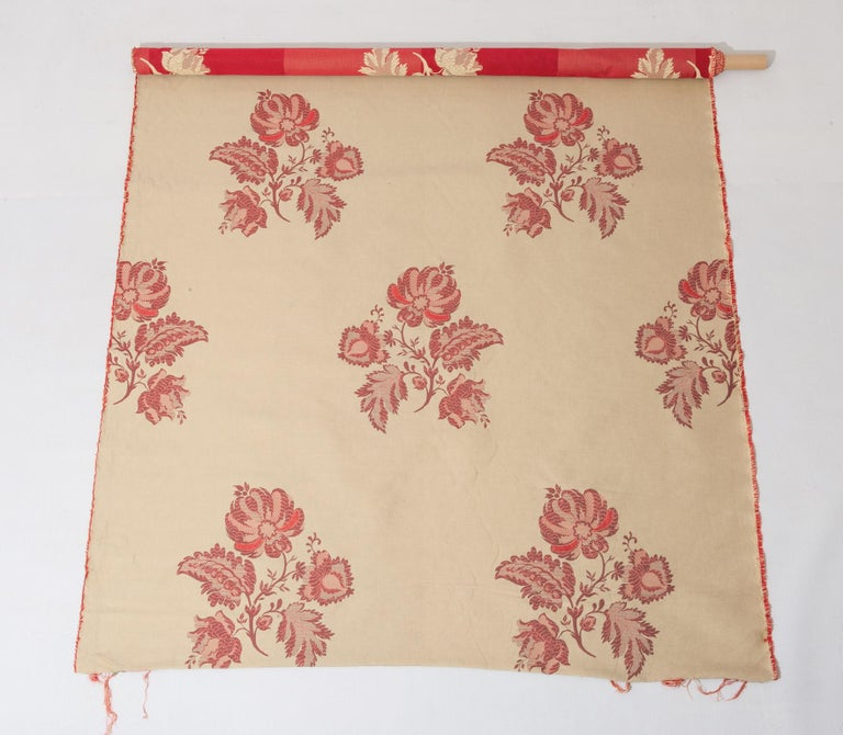 Fabric Cut Mulberry Lace Damask For Sale 4