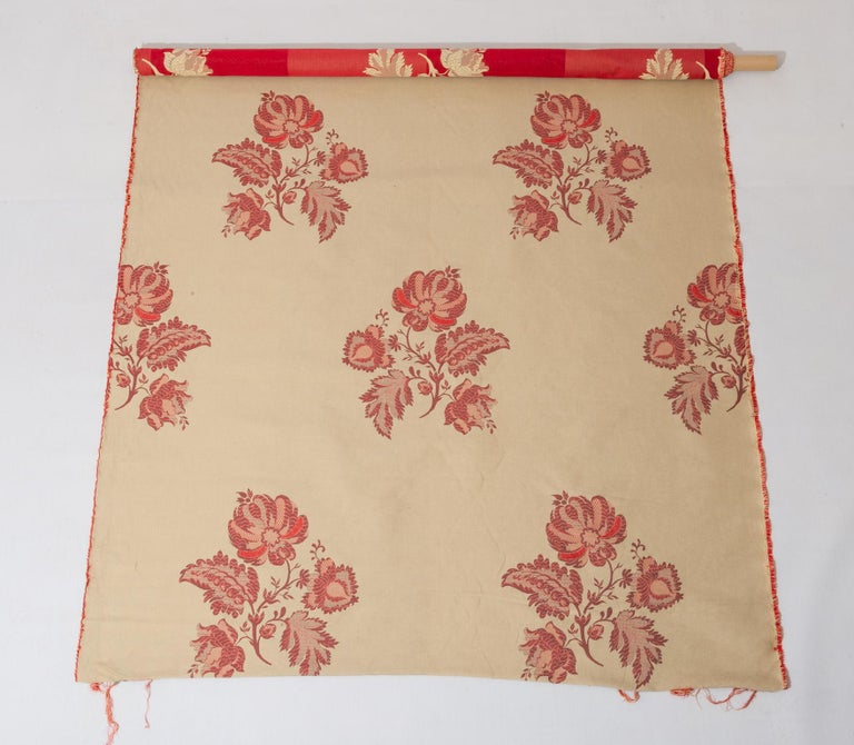 Other Fabric Cut Mulberry Lace Damask For Sale