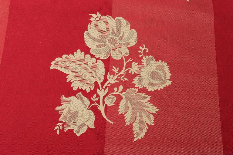 Fabric Cut Mulberry Lace Damask For Sale 2