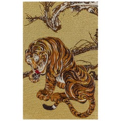 Fabric Tapestry with Tiger Design Upholstered Panel on Demand