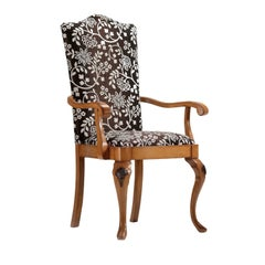 Fabric Upholstered Dining Chair with Armrests
