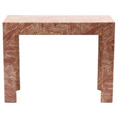 Fabric Wrapped Console Attributed to Karl Springer