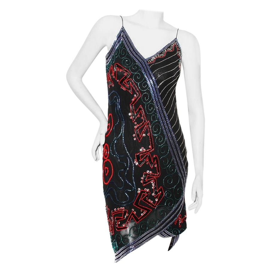 Fabrice Beaded Slip Dress