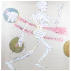 "Fabrice Dupre Painting ""Super Rock Make Love Human"""