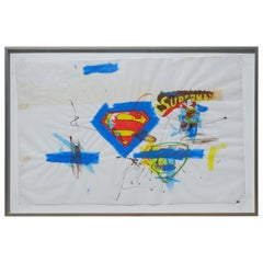 Fabrice Dupré, Superman Series Painting on Paper, circa 2004