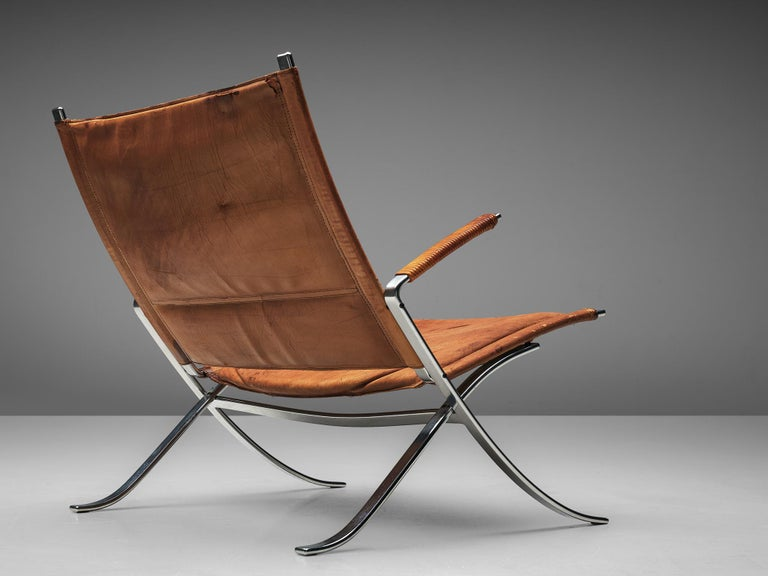 Danish Fabricius and Kastholm FK82 Chair in Cognac Leather For Sale