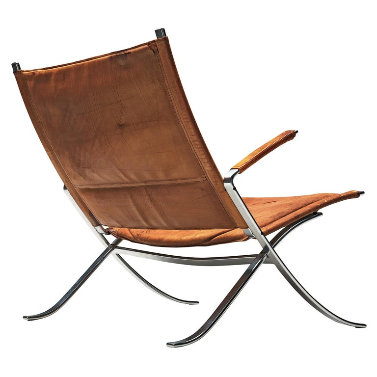 Fabricius and Kastholm FK82 Chair in Cognac Leather For Sale