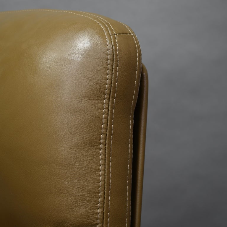 Fabricius and Kastholm FK86 for Kill International Leather Swivel Lounge Chairs For Sale 5