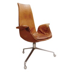 Fabricius & Kastholm Desk Chairs in Cognac Leather