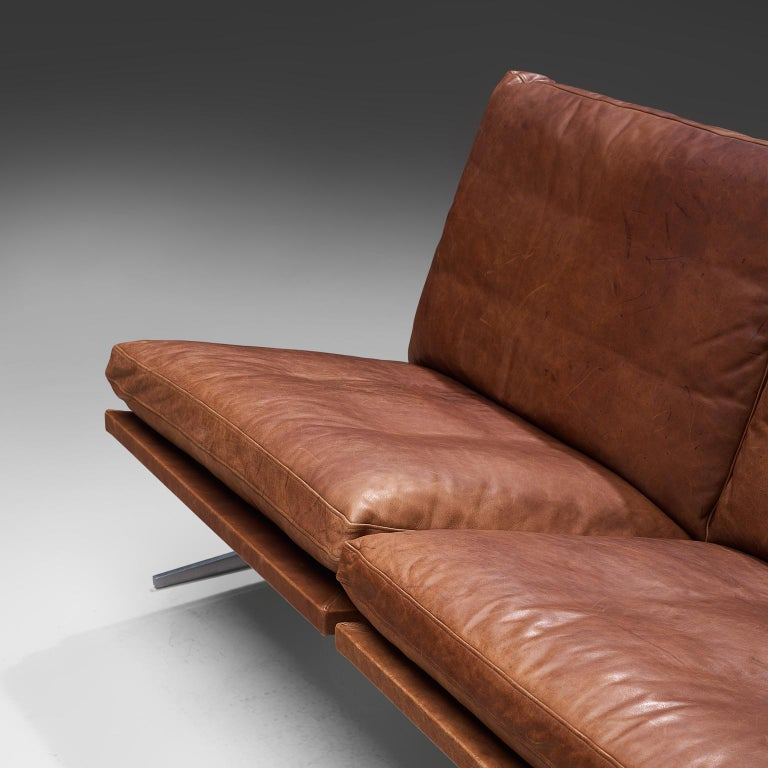 Fabricius & Kastholm Large BO561 Sofa in Cognac Leather In Good Condition For Sale In Waalwijk, NL