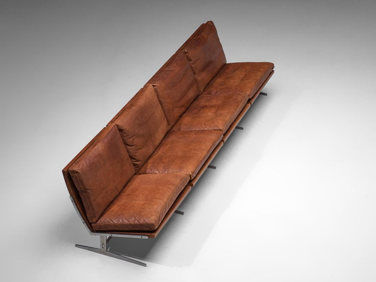 Mid-20th Century Fabricius & Kastholm Large 'BO561' Sofa in Cognac Leather For Sale